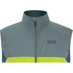 GORE WEAR R7 Partial Gore-Tex Infinium Chaleco Hombre, citrus green/nordic blue